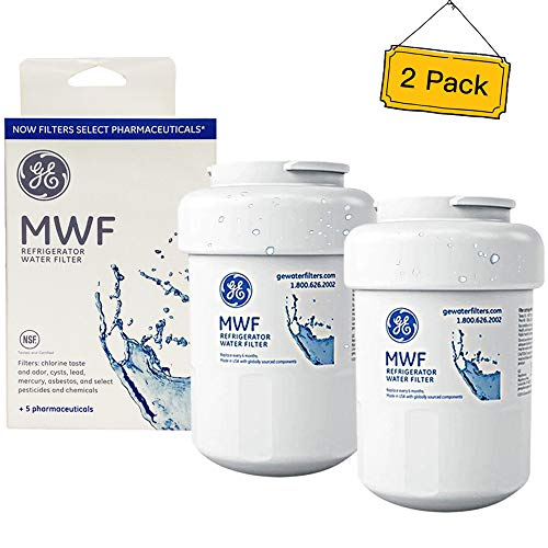 GE MWF Refrigerator Water Filter, GE Refrigerator Water Filter MWF Replacement-2 Pack