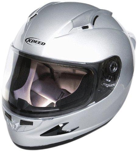 Xpeed Helmet XF 708 Solid Helmet (Silver, - Off Solid Helmet 3 Road