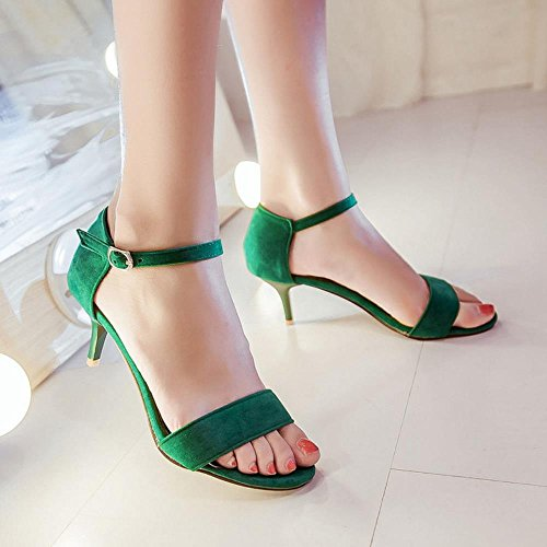 JOJONUNU Ouvert Sandales Femmes Green Bout Ete g7gHz6q