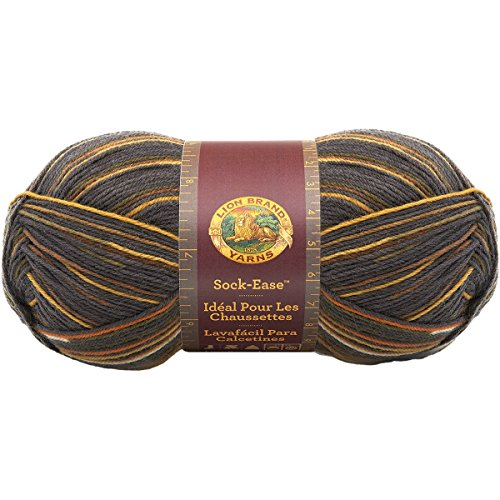 (Lion Brand Yarn 240-200I Sock-Ease Yarn, Toffee)