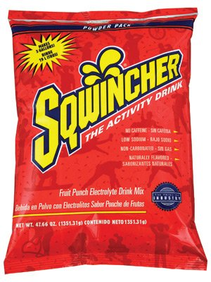 Sqwincher 47.66 Oz Pack Fruit Punch Electrolyte Drink. (16 Each)