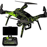MightySkins Protective Vinyl Skin Decal for 3DR Solo Drone Quadcopter wrap cover sticker skins Green Distortion