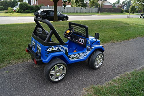 Toy Cars For 7 Year Olds : S f small blue jeep wrangler ride on car for kids