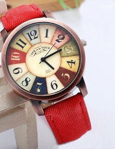 PEISHI J mujeres reloj de pulsera de moda 2015 nuevo estilo de reloj informal mujeres unisex hombres Relojes reloj de pulsera de cuero tela demia ...