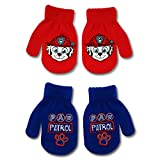 Nickelodeon Boys' Paw Patrol Marshall 2 Pair Acrylic Mitten Set, blue, red, Age 2-4 Years