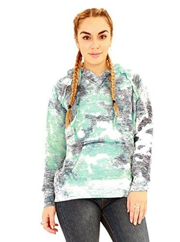 Rewatronics - Sudadera con capucha - suéter - Manga Larga - para mujer turquesa