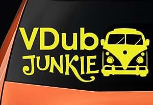 VDub Junkie, VW Furgoneta themed- vinilo–Coches, Windows, paredes, portátiles, guitarras dodoskinz–