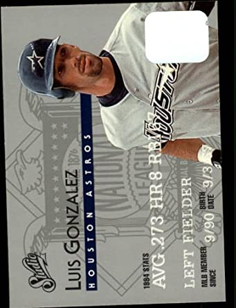 Amazon.com: 1995 Donruss Studio Baseball Card #95 Luis Gonzalez Mint: Collectibles & Fine Art