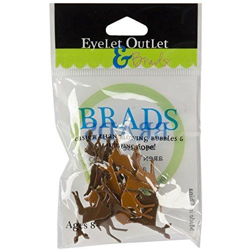 (EYELET OUTLET Shape Brads-Deer 12/Pkg)