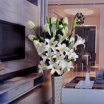 Amazon De Simulation Blumen Duft Lilie Blumenstrauss Wohnzimmer