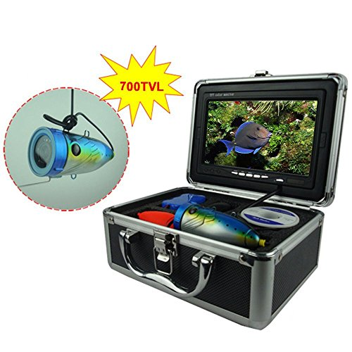 Magicfly Fishing Video Camera Underwater with 7 inches Color LCD Hd 700tvl Monitor, Video Record System, 12-led Hight-power Lights, 50ft US Adapter Review