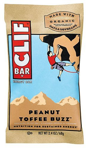 Clif Bar Energy Bar, Peanut Toffee Buzz, 2.4-Ounce Bars, 12 Count (Pack of 2)