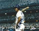 Autographed Hatcher Photo - Dodgers 8x10 COA 1988 World Series - PSA/DNA Certified - Autographed MLB Photos