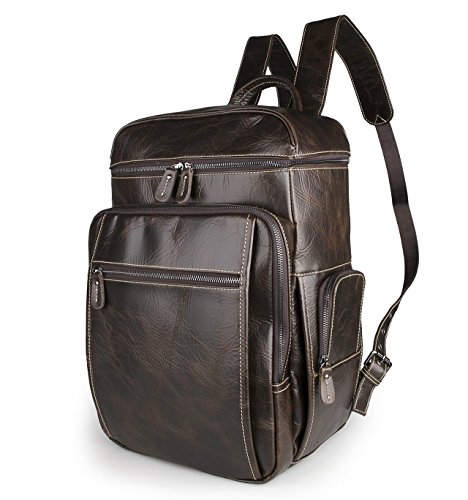 Men s Genuine Leather Backpack 16