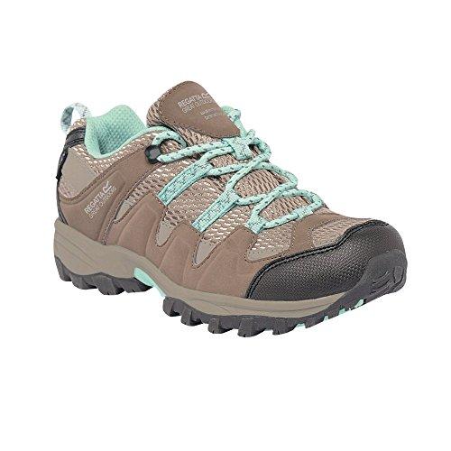 Regatta Great Outdoors - Zapatillas de senderismo de caña baja modelo Garsdale para niños/jóvenes Gris agua