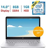 HP Pavilion 14'' HD Premium Notebook (2018 Newest), Intel Core i5-7200U Processor up to 3.10 GHz, 8GB DDR4, 1TB Hard Drive, No DVD, Webcam, Backlit Keyboard, Bluetooth, Windows 10 Home