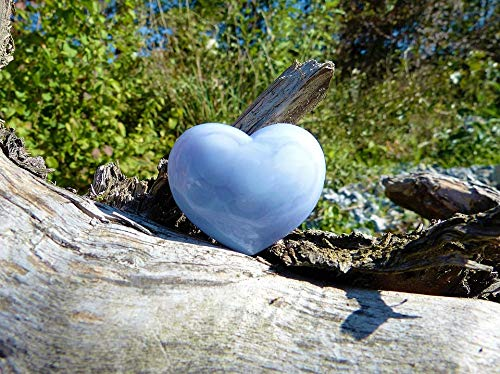 Home Comforts Peel-n-Stick Poster of Chalcedony Light Blue Nature Love Heart Luck Vivid Imagery Poster 24 x 16 Adhesive Sticker Poster Print