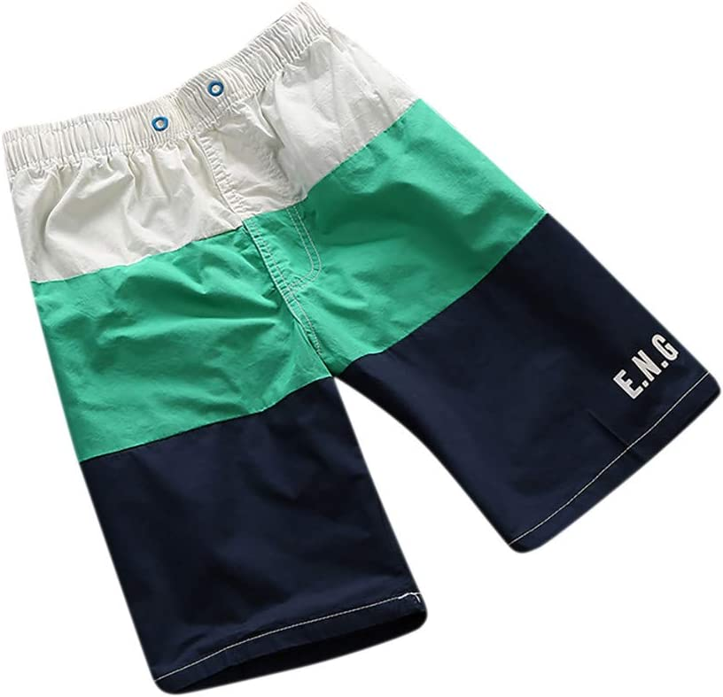 YKARITIANNA Mens Spring and Summer Splicing Swimming Trousers and Beach Surfing Shorts