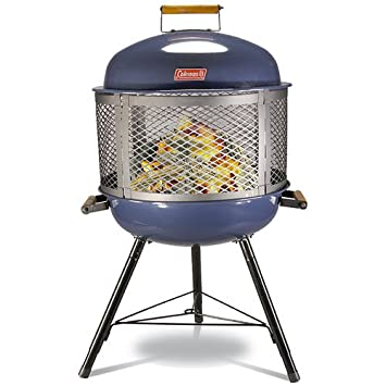 Amazon.com : Coleman Roadtrip Fireplace Grill Blue : Camping Stove ...