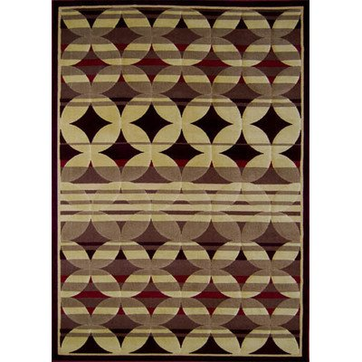 Modern Area Rug by Home Dynamix, 4480-200, Red | Catalina Collection | Soft Texture, Excellent Durability, Easy to Clean | Fade and Stain Resistant | Indoor Use for the Living Room, Bedroom, Dining Room, Work and More!