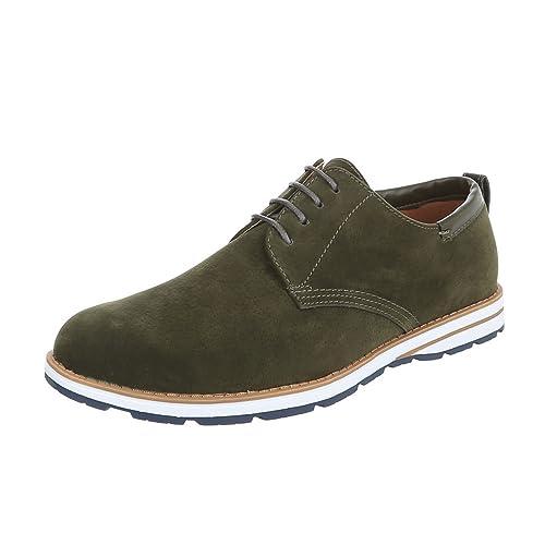97667bb1d283ad Budapester Stil Herren-Schuhe Oxford Schnürer Schnürsenkel Ital-Design  Business-Schuhe Grün