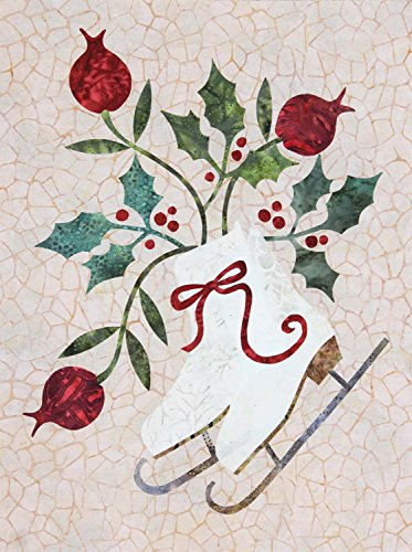 Applique Quilt Kits - Seasonal Silhouettes Block 1 Laser Cut Fusible Applique Kit With Background, Sewing Kit