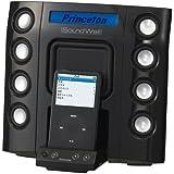 Princeton 液晶ディスプレイ搭載iPod用スピーカー SoundWall ブラック PSP-MSSSWB