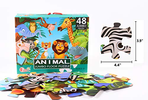 Jumbo Floor Puzzle Animals ark Educational Toy Vibrant Illustration of a Wild Animals