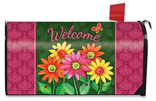 Spring Mailbox Cover - Briarwood Lane Welcome Daisies Spring Magnetic Mailbox Cover Floral Standard