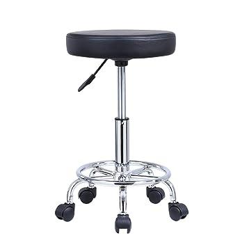 Amazon.com: KKTONER - Taburete de balonmano con ruedas y ...