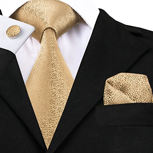 CAOFENVOO Mens Tie Pocket Square and Cufflinks Tie Set Christmas Gift Box - http://coolthings.us