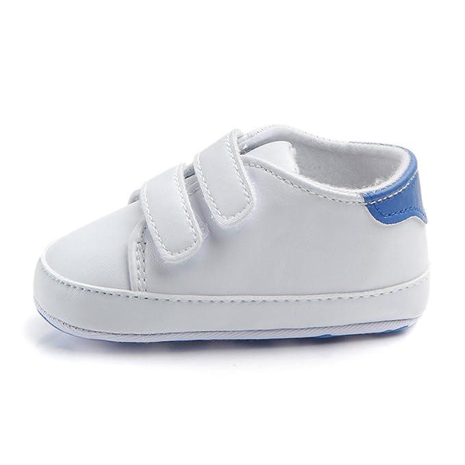 Prettyia Bambino Neonato Ragazza Bambino Morbido Culla Scarpette Scarpe  Sneaker Scarpe Casual Neonato - Blu dbe84783e5a