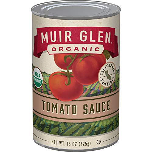 Price comparison product image Muir Glen Organic Tomato Sauce,  No Sugar Added,  15 Ounce Can (Pack of 12)