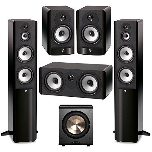 Boston Acoustics 5.1 System with 2 A360 Floorstanding Speakers, 1 A225C Center Channel Speaker, 2 A25 Bookshelf Speaker,