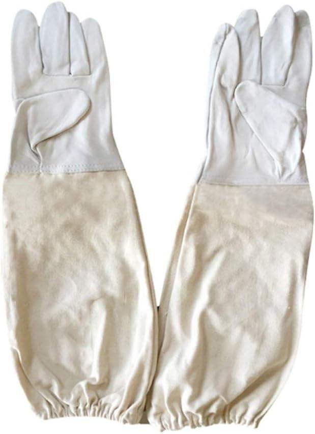 1/Paar Bienenzucht Schutz Handschuhe aus Schafsleder mit Bel/üftete langen /Ärmeln f/ür Imker