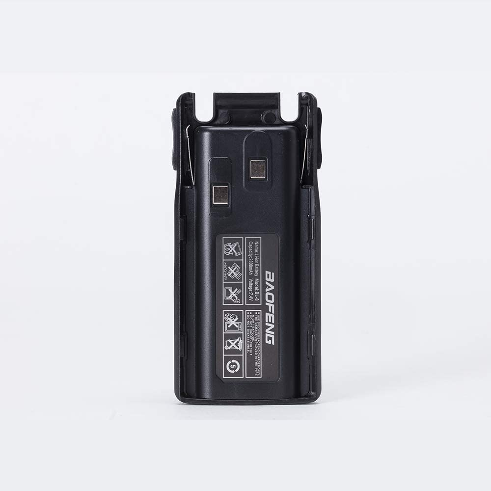 Baofeng UV-82 High Power Tri-Power 8//4//1-Watt Dual Band VHF 136-174MHz//UHF 400-520MHz Portable FRS Radio Two-Way Radio