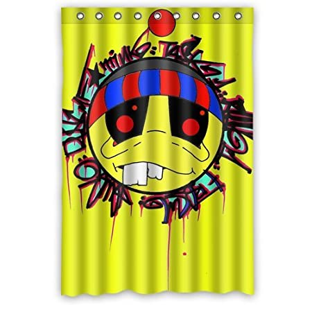 Custom Pac Man Yellow Old Brother Graffiti Polyester Fabric Shower Curtain Waterproof 182 Cm 48 Amazoncouk Kitchen Home
