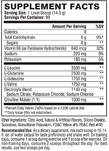 Scivation Xtend BCAA Powder, Branched Chain Amino Acids, BCAAs, Blood Orange, 90 Servings by Scivation (Image #3)