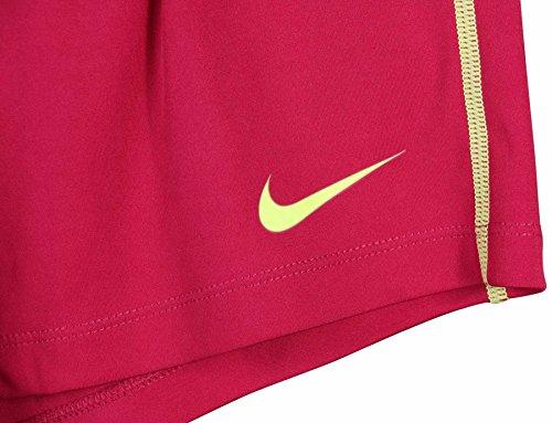 Nike Women's Dri-Fit Fly Knit Training Shorts-Magenta/Volt-Large