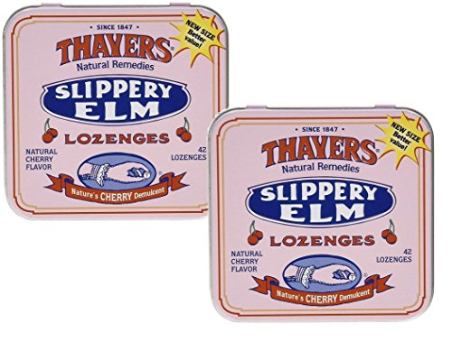 Thayers Slippery Elm Lozenges Cherry, 42 Count (Pack of - Cherry Elm Slippery