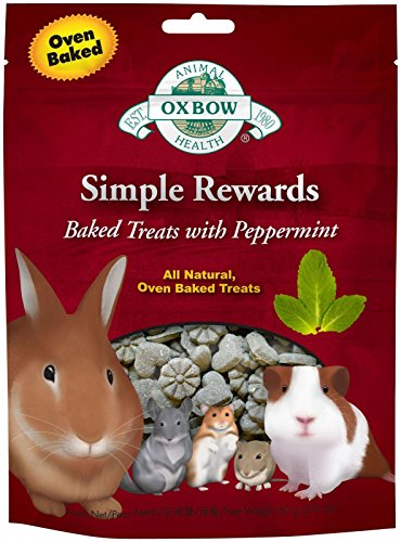 New Oxbow Simple Rewards All Natural Oven Baked Treats With Peppermint And Timothy Grass For Rabbits, Guinea Pigs, Hamsters And Other Small Pets ()