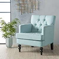 Christopher Knight Home 300098 Malone Arm Chair, Light Blue