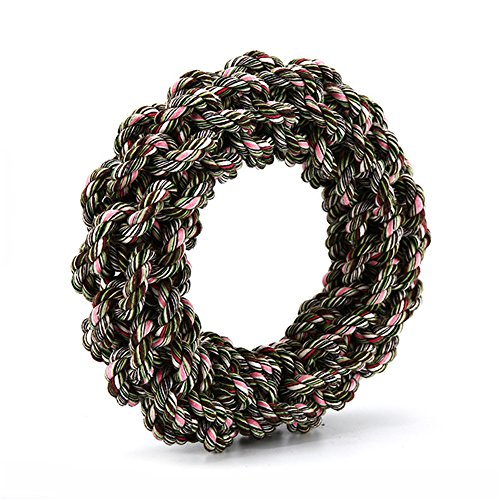 XPangle Dog Rope Ring Toys-Interactive Dog Chew Toy Aggressi
