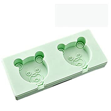 Compra NEWELL DIY Silicone Popsicle Molds Set, Self Made Ice Cream Mold Popsicle, Green Bear en Amazon.es