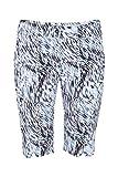 Lija Women's Straight Printed Shorts, Swirl Print, Size 8