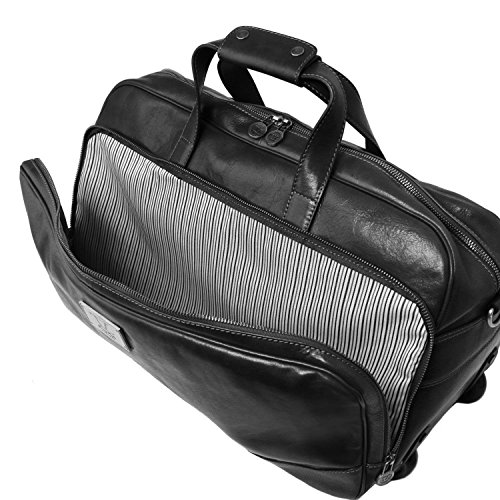 Tuscany Leather - Samoa - Sac à roulettes - Grand modèle - Marron foncé