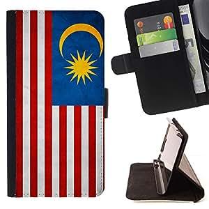 Momo Phone Case / Flip Funda de Cuero Case Cover - Nacional bandera de la nación País Malasia; - Sony Xperia Style T3