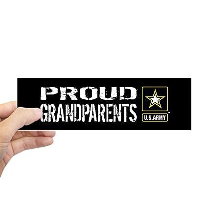 Cafepress u s army proud grandparents bl 10x3 rectangle bumper