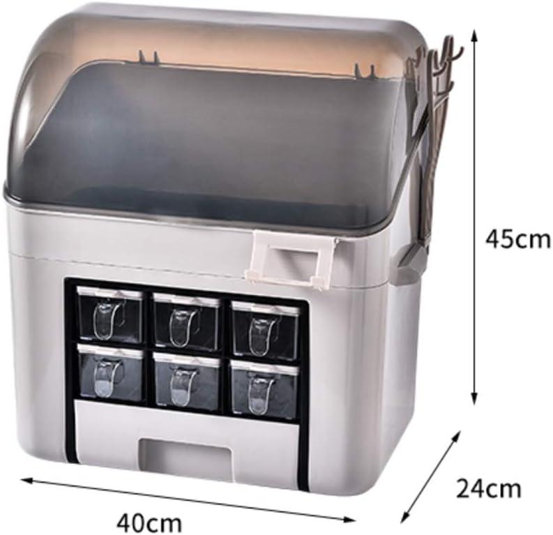 alli Frasco de condimentos de Cocina Contenedor de Ingredientes Caja de Almacenamiento ALLIKING con Gran Capacidad y Tapa UN Juego