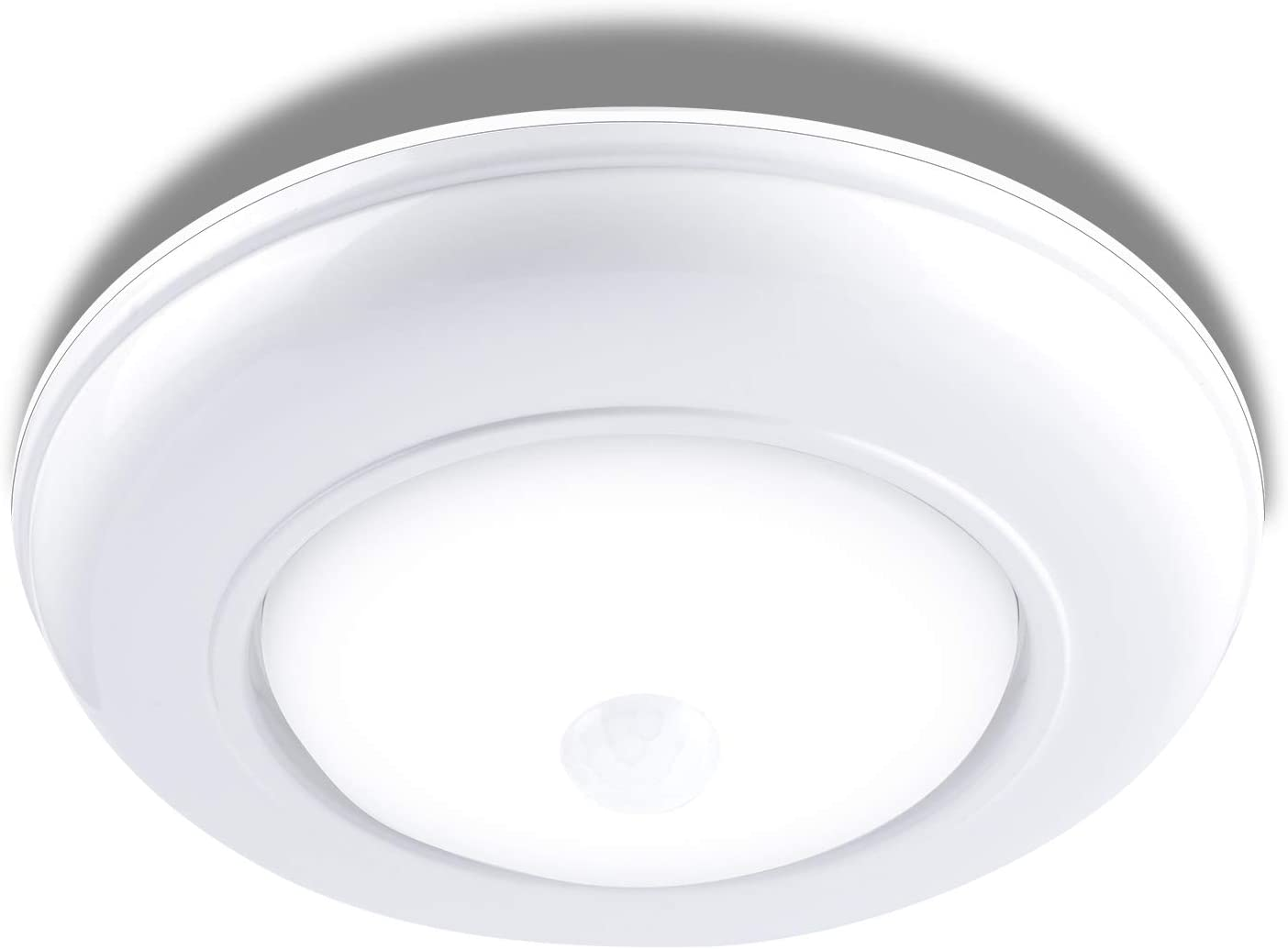 Amazon Com Flush Mount Led Ceiling Light Anunu Bathroom Light Fixture 6 7 3w 180lm 6000k Motion Sensor Round Ceiling Light For Kitchen Hallway Stairwell White Home Improvement